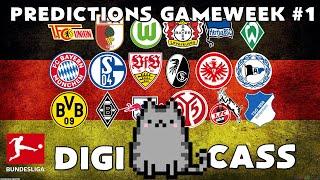 Digicass predicts - bundesliga ⚽ matchday 1 predictions