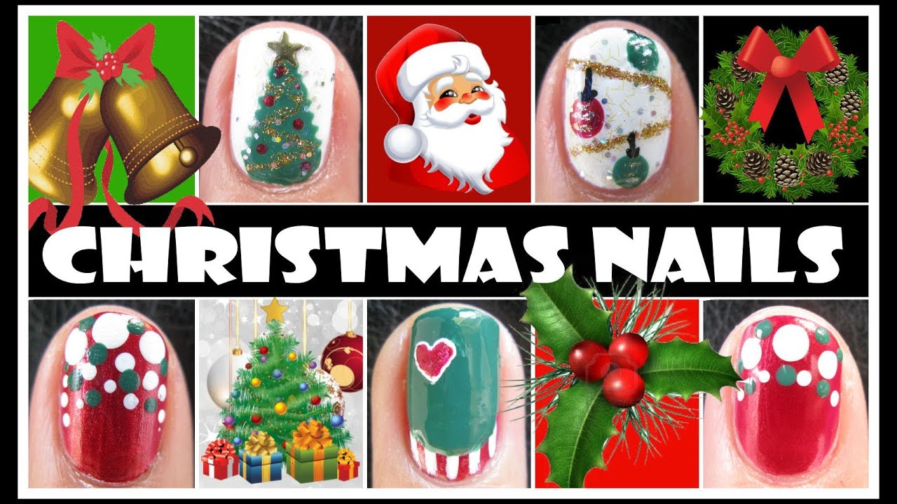 CHRISTMAS NAIL DESIGNS | XMAS HOLIDAY NAIL ART TUTORIALS FOR SHORT ...