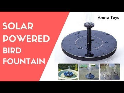 Solar Powered Bird Fountain