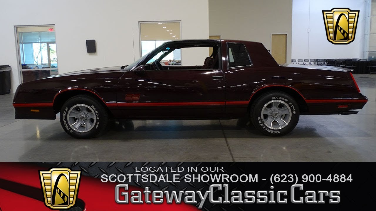 1987 Chevrolet Monte Carlo SS Gateway Classic Cars of Scottsdale #264