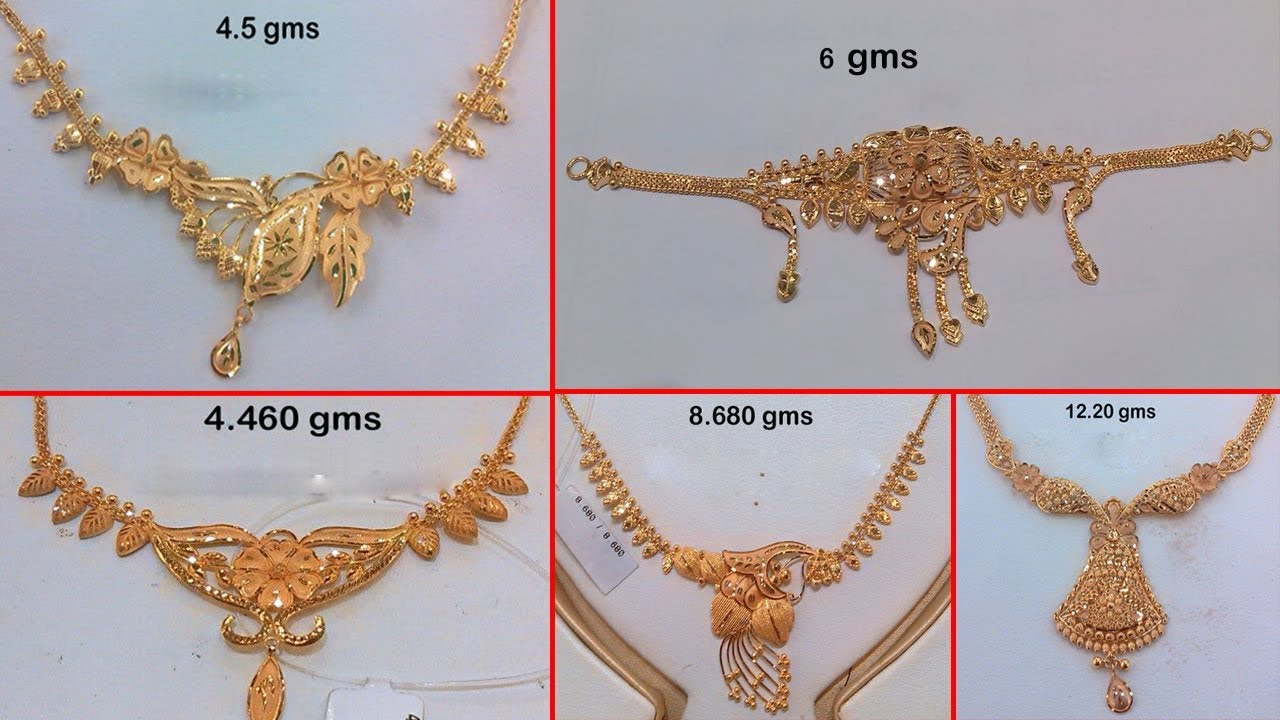Gold Necklace For Women Weight Price Under 12 Grams Simple Dailywear Jewelry Designs Youtube