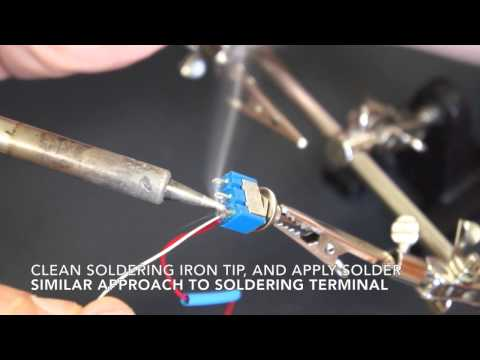 Soldering 101 - 6. Soldering a Wire to a Terminal