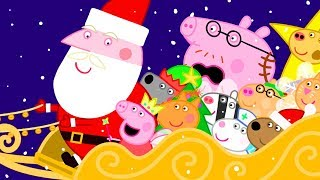 Peppa Pig Official Channel 🎅 Peppa Pig's Ride with Father Christmas