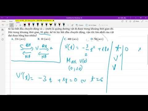 Bài toán chuyển động, vận tốc, quãng đường - Ứng dụng đạo hàm