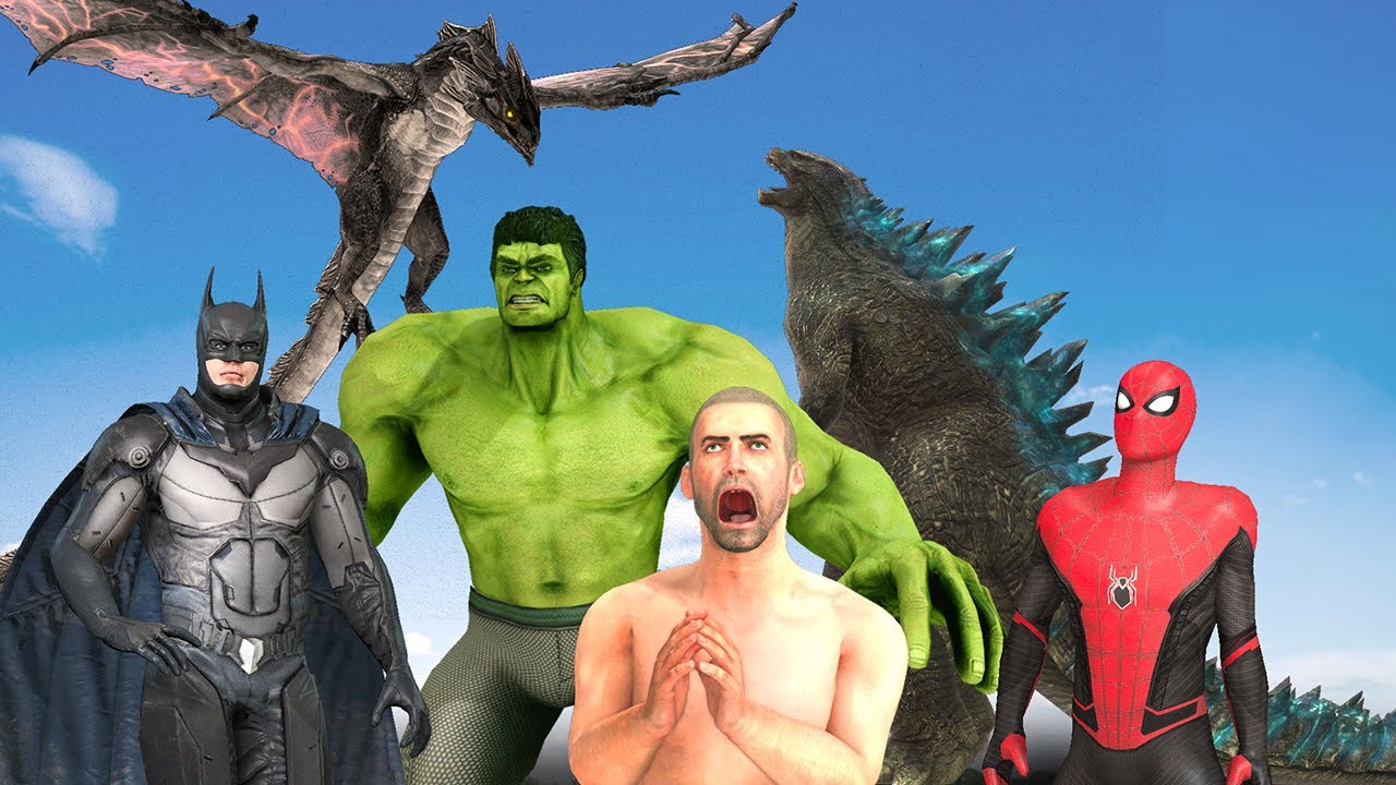 Godzilla Vs Super Heros & Wyvern | Full Version | Pubg Animation
