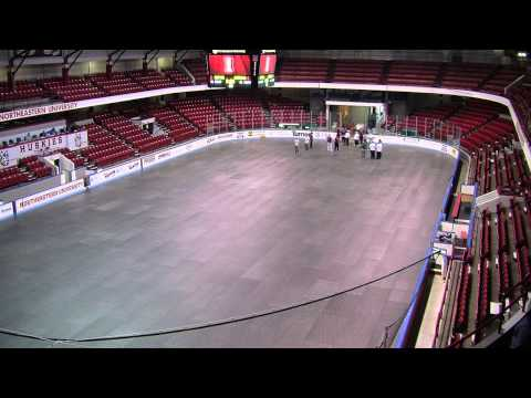 Northeastern University Matthews Arena Floor Conversion Time Lapse