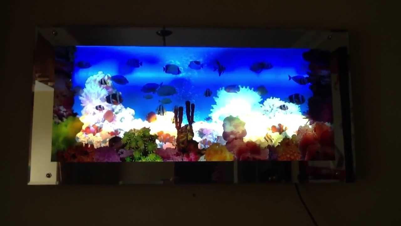 Aquarium moving wall art - YouTube
