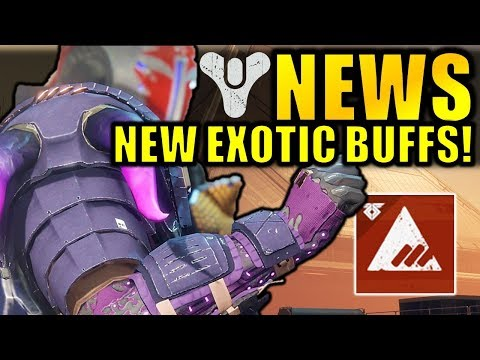 Destiny 2 News: NEW EXOTIC BUFFS! - Huge Armor Changes! - Next Faction Rally!
