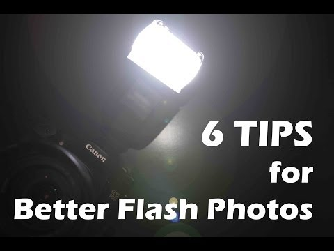 6 Tips for better flash photos