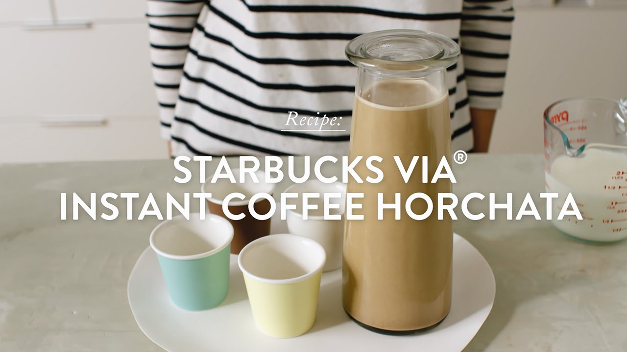 Starbucks Via Instant Coffee Horchata