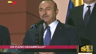 Canciller de Turquía declara tras reunirse con el Presidente de Venezuela, Nicolás Maduro