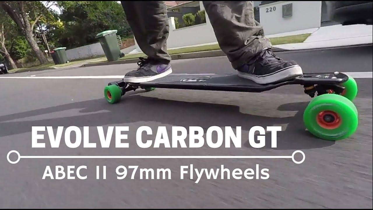 evolve skateboards carbon gt 97mm accelerating braking. Black Bedroom Furniture Sets. Home Design Ideas
