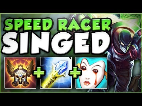 CATCH ME IF YOU CAN! SPEED RACER SINGED OP! AP SINGED SEASON 8 TOP GAMEPLAY! - League Of Legends
