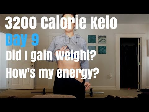 Keto Calorie Surplus Challenge - Day 9 Update - Energy, Weight, Physique
