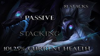 Kindred Passive Stacking (Do 100% Current Health Damage)
