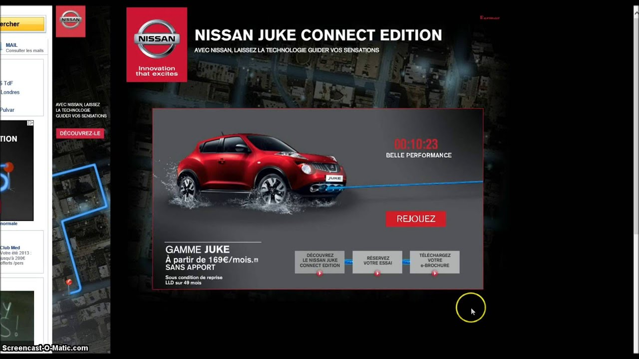 nissan juke connect edition on yahoo france youtube. Black Bedroom Furniture Sets. Home Design Ideas