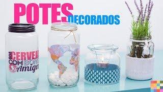 4 ideias para decorar com potes de vidro gastando pouco