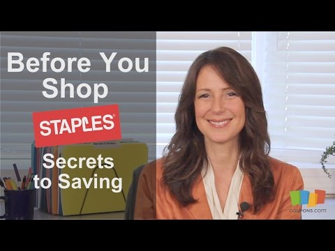 Staples: Secrets to Saving