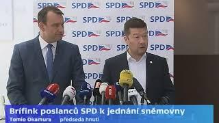 Tiskovky SPD, Pirátů, ODS a ANO ke snaze otevřít kauzu novičok na půdě sněmovny