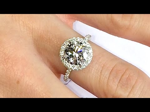 2 Ct Round Diamond Halo Engagement Ring   YouTube