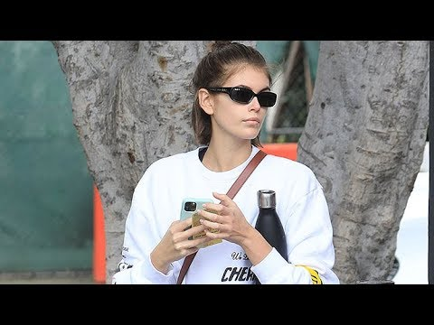 Kaia Gerber Declines To Answer Questions About Ex Pete Davidson Being Absent From SNL