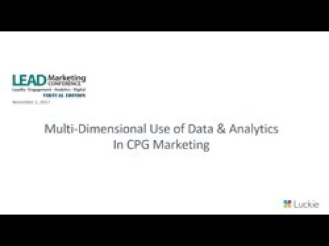 Multi-Dimensional Use of Data and Analytics in CPG Marketing