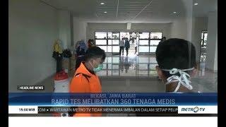 Wali Kota Bekasi Cek Simulasi Tes Massal Covid 19 di Stadion Patriot Candrabaga