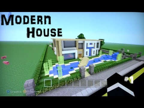 Minecraft xbox 360 modern house tour youtube for Tuto maison moderne minecraft xbox 360