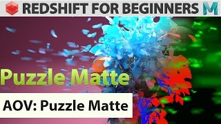 Redshift For Beginners - AOV - Puzzle Matte