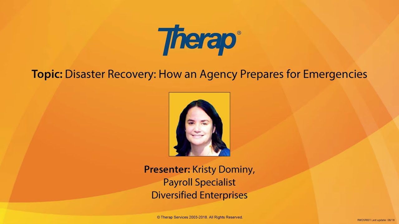 Disaster Recovery Specialist Webinar Disaster Recovery How An Agency Prepares For Emergencies