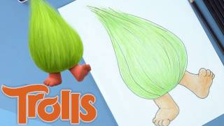 How to Draw and Color Fuzzbert from Trolls! Trolls Movie Drawing Craft | Trollz Full Episodes HD