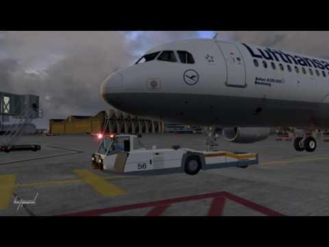 Flightfactor A320 Full Flight from Frankfurt to Stuttgart | Part 1