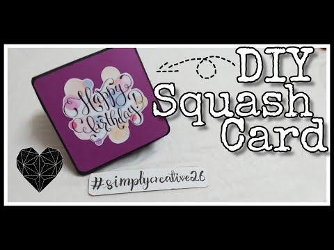 DIY squash card | Tutorial | #simplycreative26 | #24