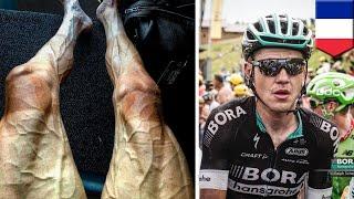 Bulging veins: Polish cyclist Pawel Poljanski shows off tired legs during Tour de France - TomoNews