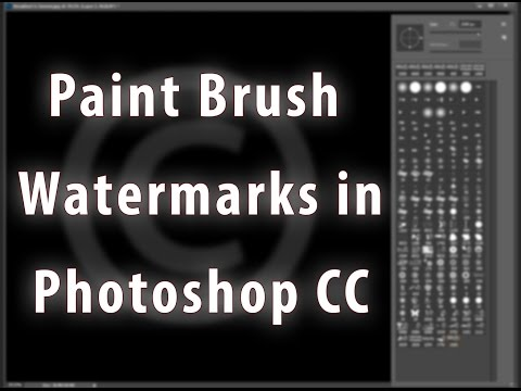 Watermarks In Photoshop CC With Brushes