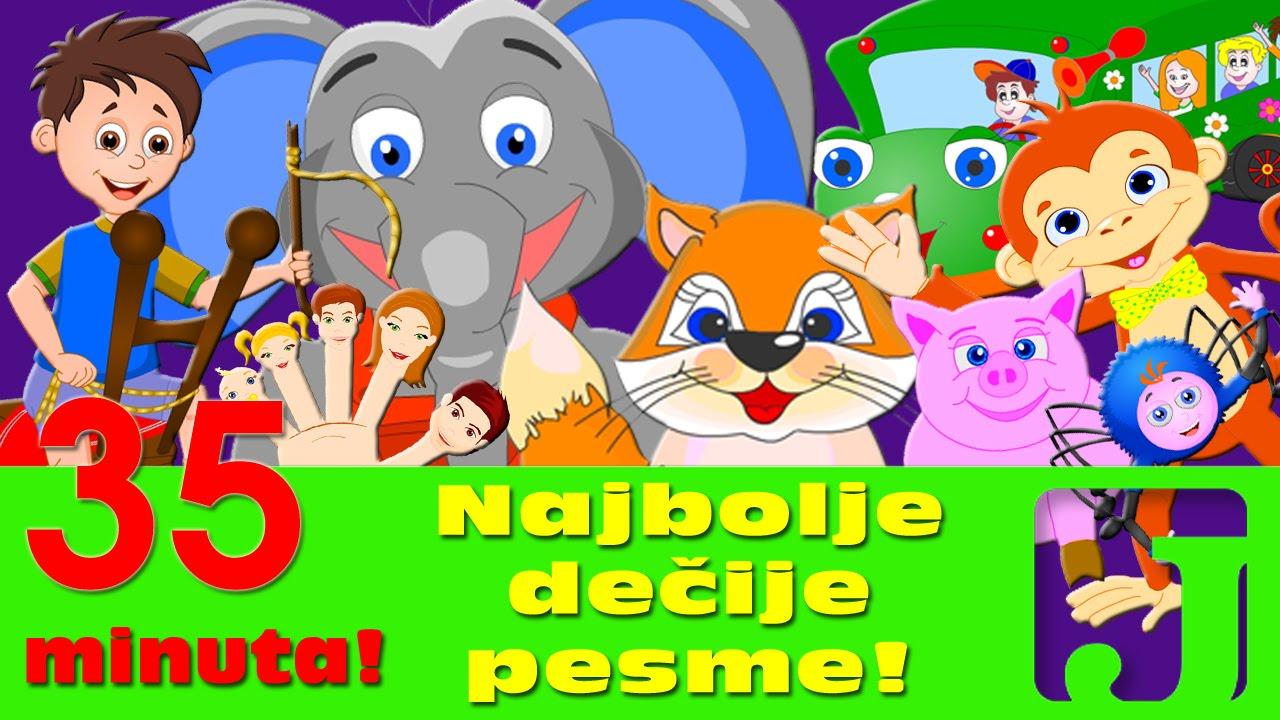 Download Najbolje dečije pesme - Pet malih majmuna, Kad si srećan i druge | Pesme za decu