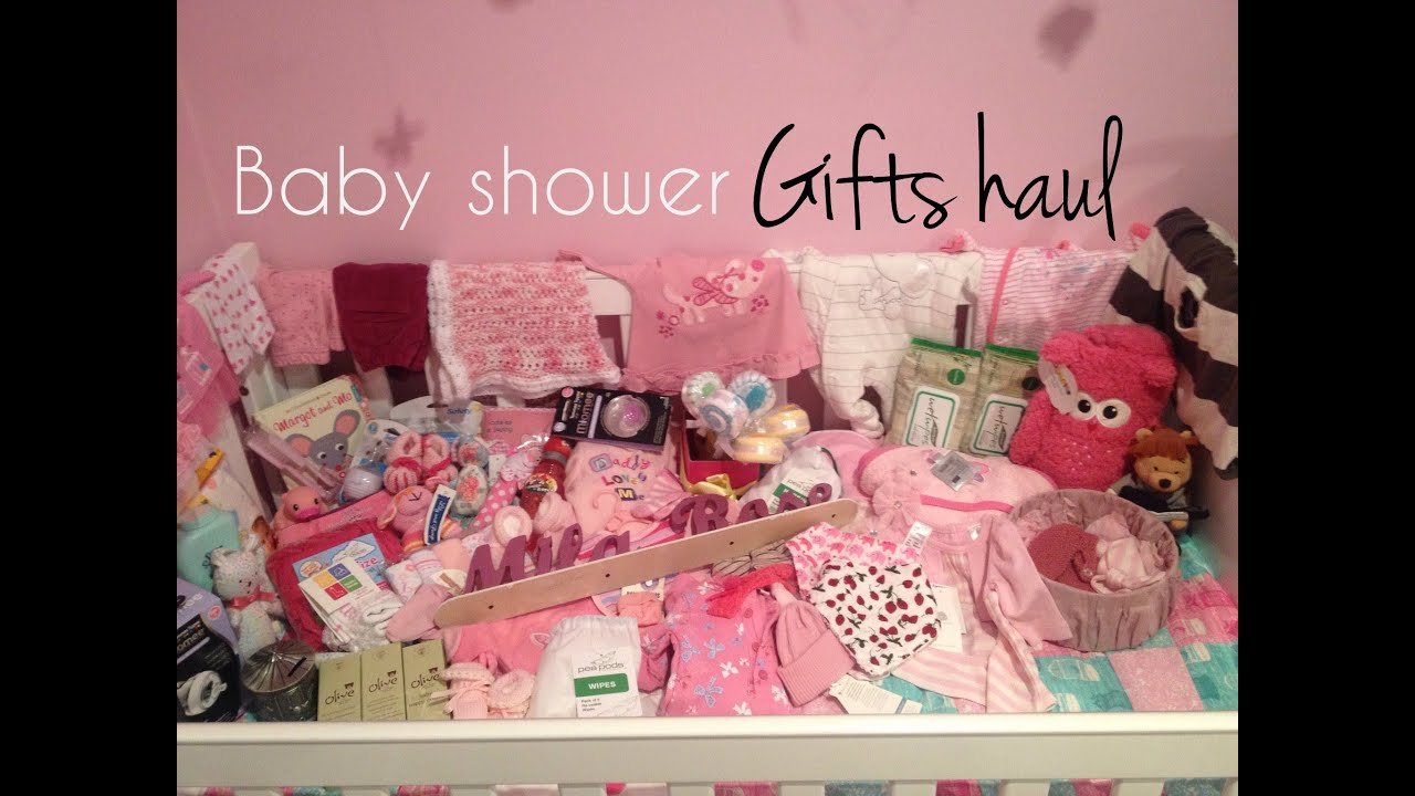 Baby shower gifts haul youtube negle Image collections