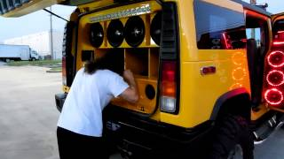 Hummer H2 DS-18 Miami Demo Car for Spirit Company by ADN, Galaxy Sound and City Car Audio