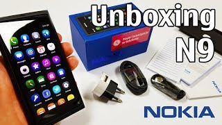 Nokia N9 Unboxing 4K with all original accessories Nseries RM-696 review N9-00