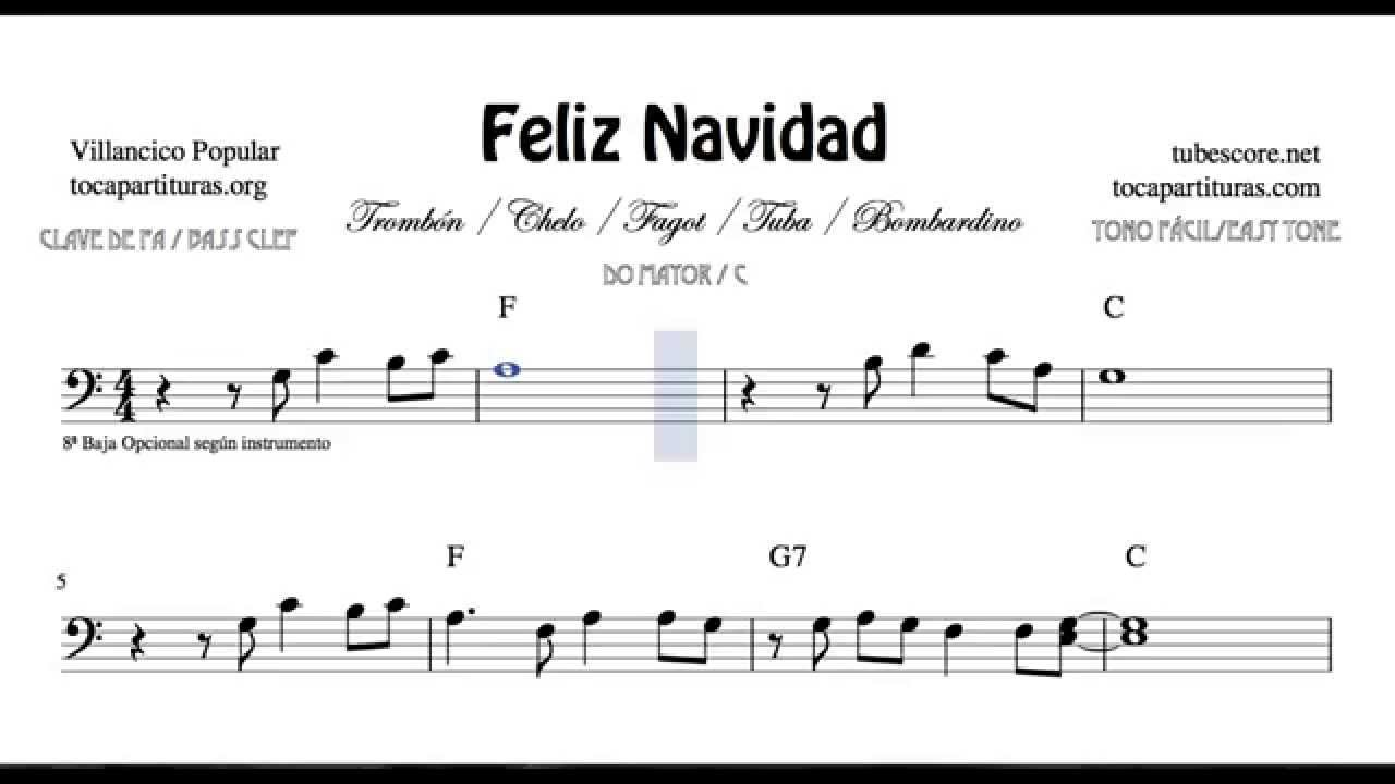 I Wanna Wish You a Merry Christmas Sheet Music for Trombone Tube ...