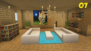 Minecraft Survival #07 - Mobiliando a Sala de Estar