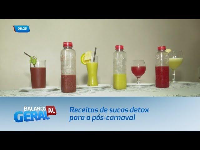 Receitas de sucos detox para o pós-carnaval