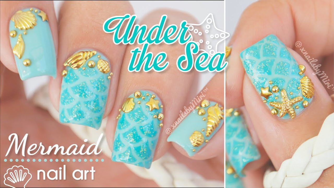 Under The Sea / Mermaid Nail Art || using Twinkled T ...