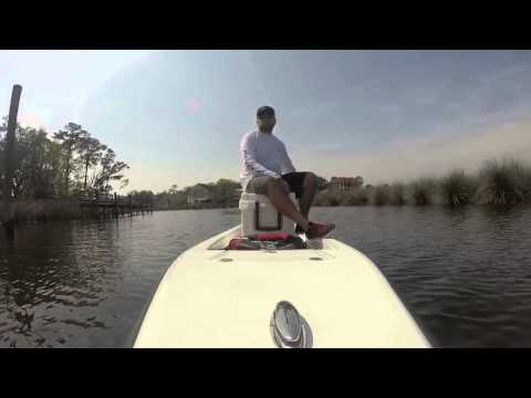 Ambush Micro Skiff Back Bay Ocean Springs MS - YouTube