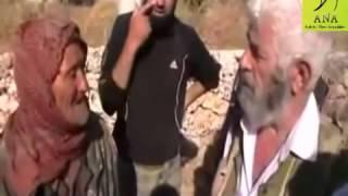 رجل مسن شيعي  دخل على الجيش الحر بالغلط : شااهد ماذا فعلوا له ..