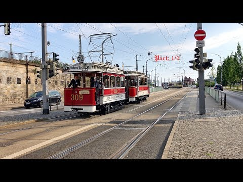 25 years Dresden tram Museum / Vehicle parade / Germany, 03. June 2017 / Part: 1/2