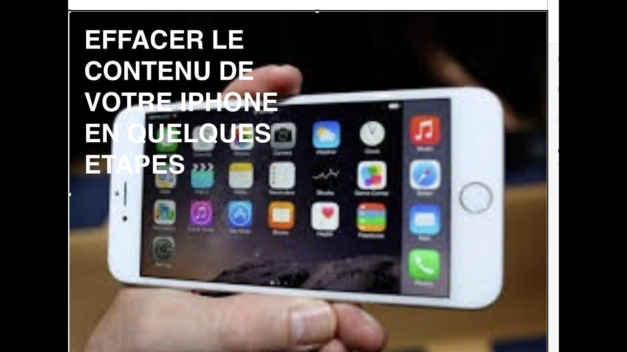 Tuto Comment Effacer Contenu De Son Iphone Ipad Ipod Touch Reglage