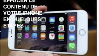 Tuto Comment Effacer Contenu De Son Iphone Ipad iPod Touch Réglage Usine Reset Complet