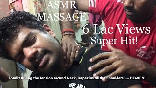 Best Indian Head Massage & Back Massage (2 Back Cracks)|By MunnaLal|ASMR|60 FPS