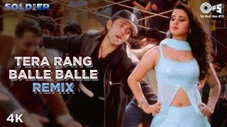 Remix: Tera Rang Balle Balle | Bobby Deol | Preity Zinta | Sonu Nigam | Jaspinder Narula | Soldier